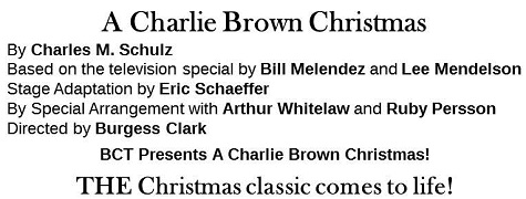 Snoopys Christmas Lyrics.A Charlie Brown Christmas Tickets Events The Regent